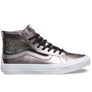 VANS Sk8 Hi Mesh Metallic Slim Cutout hi top skate